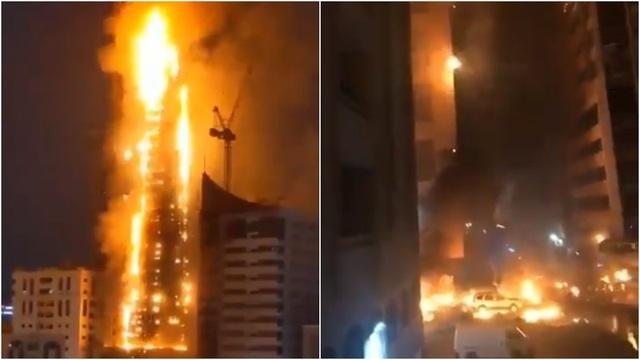Skyscraper Catches Fire in UAE