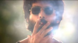 Snap taken from the Popular indian movie, Kabir Singh, promoting clearly alcoholic baverages and smoking.
