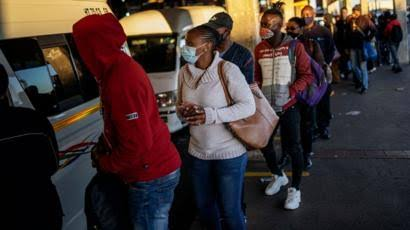 South African dwellers spotted lining up in the queue at alcohol stores after having ease in lockdown imposed for two months left the ban on alcohol sale and consumption.