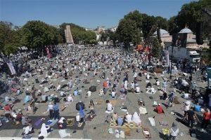 Hagia Sophia Is Open For Muslims Prayer