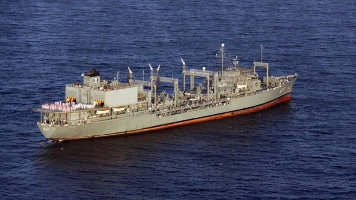 Ship burst into fire off the gulf of oman